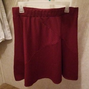 Maroon skirt (a bit darker in person)